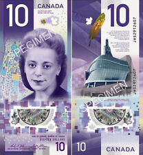 2018 Vertical CRISP UNC canada bank note $10 Dollars Polymer with Viola Desmond