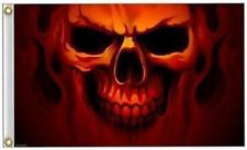 Flaming Fire Ghost Skull Flag Fl370 skulls head flags 3 x 5 new 3x5 biker item