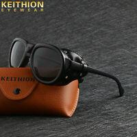 KEITHION New Unisex Steampunk Sunglasses Fashion Round Vintage Retro Eyewear