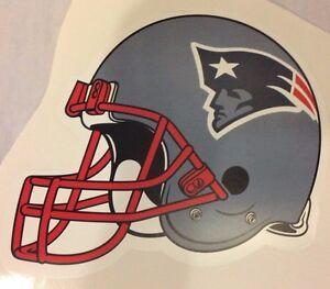 "New England Patriots HELMET Logo 9"" x 7"" FATHEAD Wall Graphics Vinyl sticker"