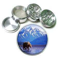 "Scenic Alaska D1 Aluminum Herb Grinder 2.5"" 63mm 4 Piece Grizzly Bear"