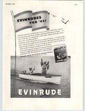 1942 PAPER AD Evinrude Outboard Motor WWII Limited Supply Motor Boat