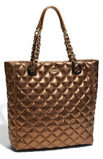 KATE SPADE NEW YORK GOLD COAST 'ELYSE' QUILTED METALLIC GOLD BRONZE SHOPPER RARE