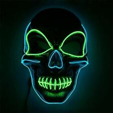 Halloween Mask Skeleton Design LED Light Up Flashing Party Cosplay Fancy Dress