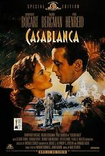 Casablanca (1942) Original Video Film Poster Reissue 1998 - Gerollt - Dudash
