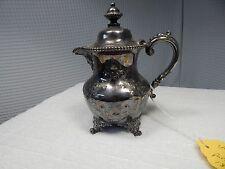 1873c.Victor Silver Plate Co.Tea Pot #2638 Quadruple Plate