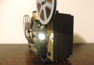 B&H 497A - Super 8 & Reg 8mm Multi-Motion Movie Projector in Box ~Serviced~