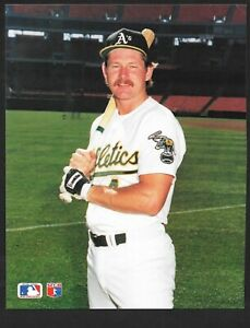 1990 Carney Lansford ATHLETICS UNSIGNED  7-7/8 x 10 COLLA  COLOR PHOTO CARD #3
