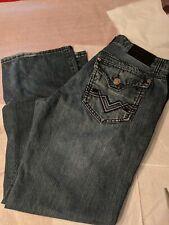 Black Brand Men's 34x30 low-rise boot cut distressed Jeans
