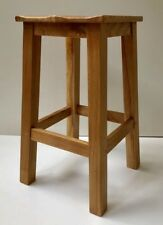 Chester Sculptured Solid Oak Stool | Dining Seat | Breakfast Bar Stool
