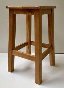 Chester | Oak Kitchen Breakfast Bar Stools | Solid Wood Stool| | Dinning Seat