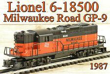 Lionel 6-18500 Milwaukee Road MR GP-9 Diesel 1987 C9* Pullmor Motor/Horn