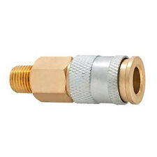 "Plews C91 Coupler Brass 1/4"" Hi Flo/HVLP"