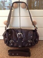 GREAT SMITH & CANOVA BROWN LEATHER SHOULDER BAG USED LIGHT SIGNS OF USE