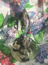 Gallo Painted Pewter Fairy Sitting On Top Of Crystal Ball 1992 Magic Butterfly