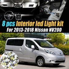8Pc Super White Car Interior LED  Light Bulb Kit for 2013-2019 Nissan NV200