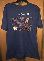 Nwot Mens Houston Astros Take It Back T-Shirt. Sz large & Navy Blue. By Majestic