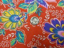 New ListingBest Vintage Feedsack Quilt Fabric Vibrant Red Floral Tropical Sugar Flour Sack