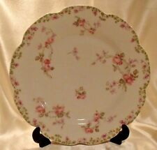 "Haviland Limoges 9.75"" Scalloped Edge Plate Roses Great Condition"