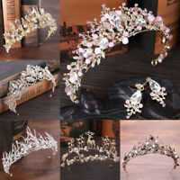 Wedding Bridal Crown Headdress Flower Crystal Hair Accessories Bridal Tiara Gift