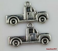 Wholesale 30pc Tibet silver truck Jewelry finding Charm Pendant  26x14mm
