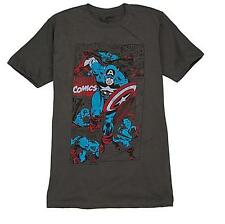 Marvel Super Hero Classic Captain America T Shirt Tee Mens Size Large Gift New
