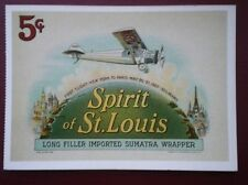 POSTCARD AIR SPIRIT OF ST LOUIS - LONG FILLED IMPORTED SUMATRA WRAPPER