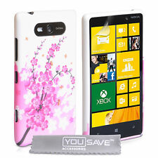 Accessories For The Nokia Lumia 820 Floral Bee Silicone Gel Case Cover & Film