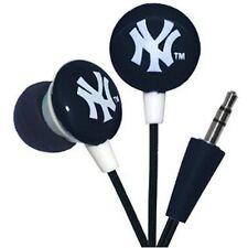 New York Yankees Noise Isolating IHIP Earphones I pad I phone I pod New in Box