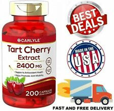 TART CHERRY EXTRACT 2400 mg Max Strength Antioxidant Joint Health 200 Capsules