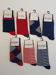 NEW Ben Sherman Mens Cotton Dress Business Socks Size EU 40.5 - 46 - UK 7 - 11