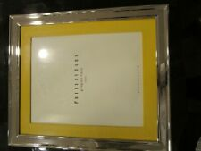 Pottery Barn silver plated frame with yellow  grosgrain Mat  8 X 10 New in box