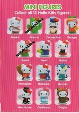 Hello Kitty America The Beautiful Series 2 - Set of (11) Mini Figures & Cards