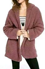 NWT Victorias Secret PINK Reversible Sherpa Cardigan Hoodie Jacket Begonia XS