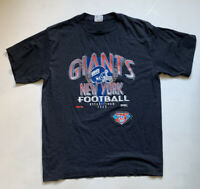Vintage 1994 New York Giants NFL Trench T-Shirt Size XL