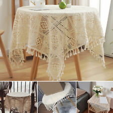 American Style Hollow Tablecloths Solid Color Classical Fabric Household Goods
