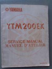 Yamaha Motorcycle Manuals and Literature 1983 Year of Publication Repair