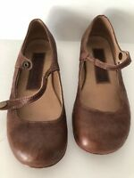 USARTISAN WOMEN SHOES HOUSTON HANDMADE IN USA BROWN  DISTRESSED LEATHER SIZE 6