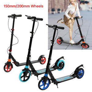 High Quality Large Teens Adult Push Scooter Kick Street Ride Scooter Dual Brake