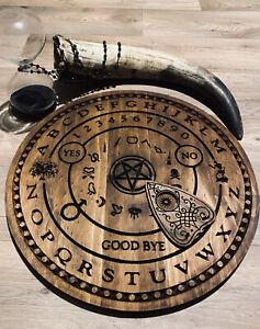 Circular Ouija Talking Board Set Hand Crafted
