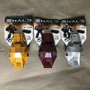 Mega Bloks Construx Halo Stealth ODST Platinum Drop Pod 3 Pcs lot *New Sealed*