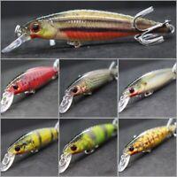 3 1//4 inch 1//8 oz Minnow Fishing Lures Tight Wobble Slow Sinking Jerkbait M662