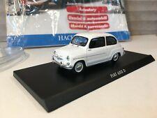 FIAT 600 D 1/43 SOLIDO AUTO ITALIANE DA COLLEZIONE HACHETTE C/ FASCICOLO abarth