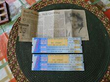 Rod Stewart 1988 unused consert tickets Jones Beach Ny