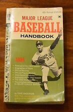 1964 MAJOR LEAGUE BASEBALL HANDBOOK 4TH ANNUAL EDITION DAVE ANDERSON SC 1964