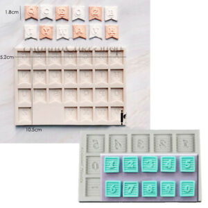 Alphabet Letter Number Silicone Fondant Mould Cake Chocolate Decorating Mold DIY