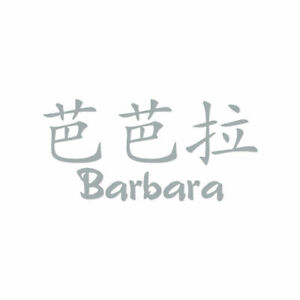 Chinese Symbol Barbara Name - Decal Sticker - Multiple Colors & Sizes - ebn2041