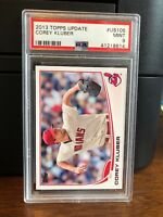 2013 Topps Update Corey Kluber Indians Rookie Card #US105 PSA 9 Mint