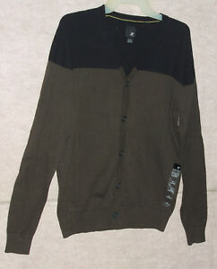 Men's J. FERRER button front cardigan  sweater , sz small  , NWT