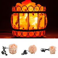 Natural Himalayan Ionic Crystal Salt Lamp Night Light Air Purifier Dimmer Switch